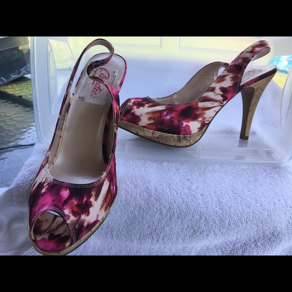 4a2b38a29be5f Candie's Shoes | Candies Sling Back Womens Peep Toe Heels | Poshmark